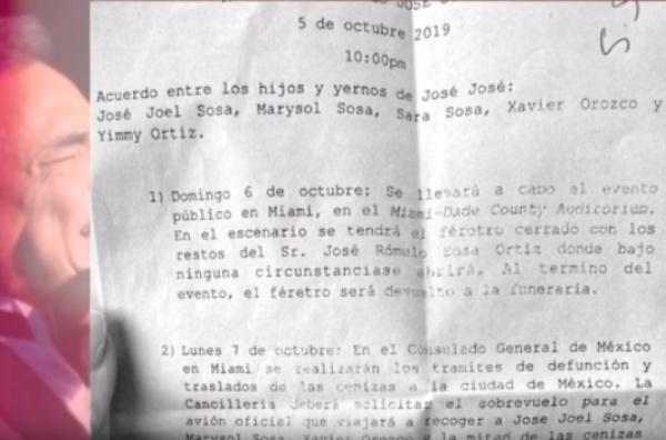 Ayer se divulgó el itinerario que recorrerán las cenizas de José José a su llegada a México. FOTO: Especial