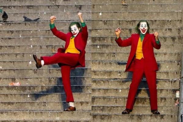 Joker baile escaleras famosas pelicula Joaquin Phoenix