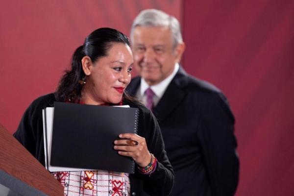 María Luisa Albores y Andrés Manuel López Obrador. Foto: Presidencia