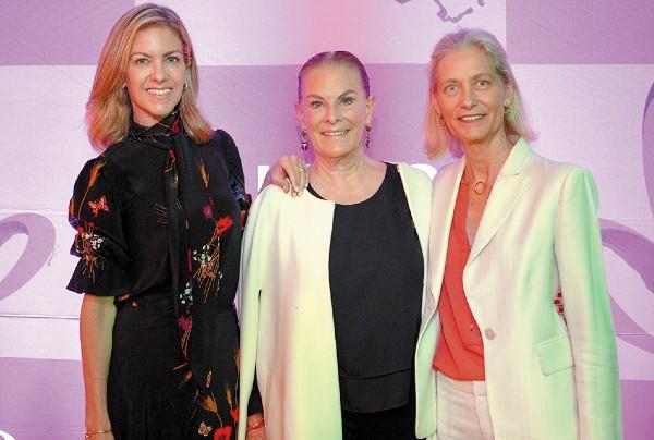 UNIDAS POR UNA BUENA CAUSA. Fernanda de Cima, Olivia Aldrete y Leticia Nowak. Foto: Cortesía