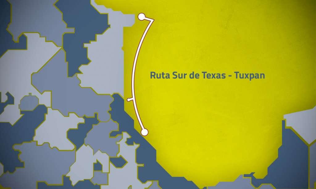 2 mil 600 millones de pies cúbicos de gas, capacidad de transporte del gasoducto Texas-Tuxpan. Foto: Especial
