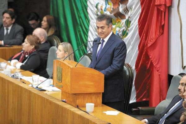 INFORME. Ayer, Jaime Rodríguez Calderón rindió su cuarto informe de labores. Foto: Especial.