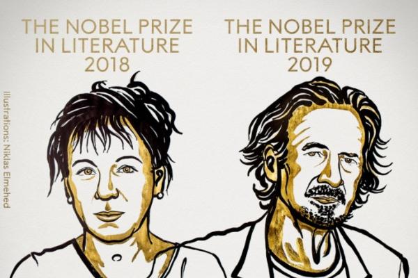 La Academia Sueca entregó el Nobel de Literatura 2018 y 2019. Foto: @NobelPrize