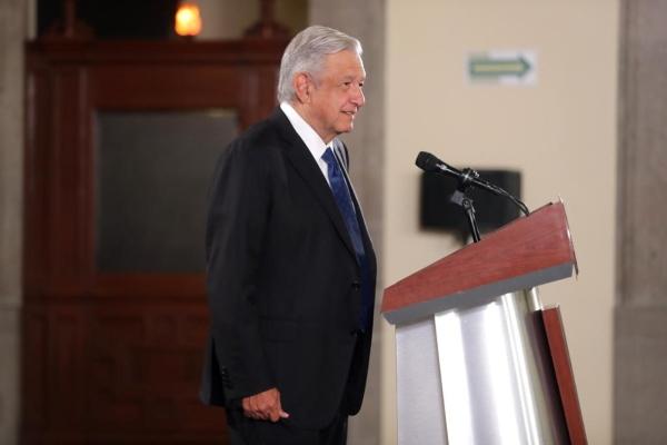 El presidente de México durante la conferencia matutina. Foto: Presidencia