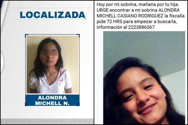 Alondra Michell era buscada por su familia. Foto: Especial