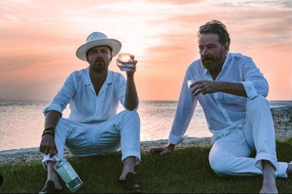Aaron Paul y Bryan Cranston. Foto: Instagram doshombres