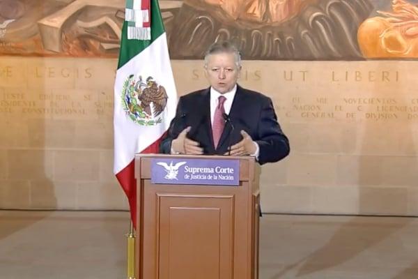 El ministro presidente de laSCJN,Arturo Zaldívar Lelo de Larrea. Foto: Especial