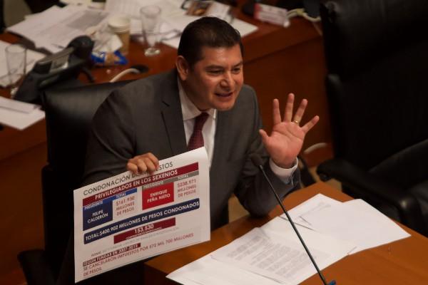 El senador del grupo parlamentario Morena, Alejandro Armenta Mier. Foto: Cuartoscuro