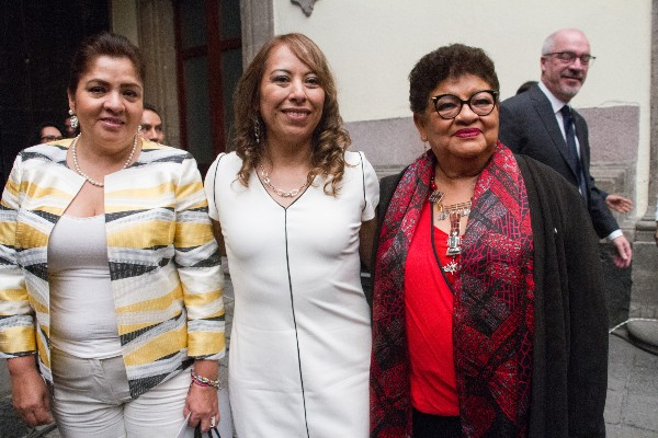 Se realizó el acto disculpa pública a la expolicía Federal, Lorena González Hernández, señalada como líder de una banda de secuestradores  FOTO: VICTORIA VALTIERRA /CUARTOSCURO.COM