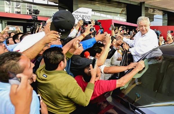 El Presidente de México visita el estado fronterizo horas antes de que se realice la consulta. Foto: Especial