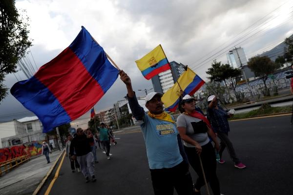Protestas en Ecuador. Foto: EFE