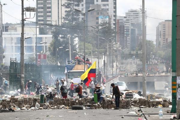 Violencia en las calles ecuatorianas. Foto: EFE