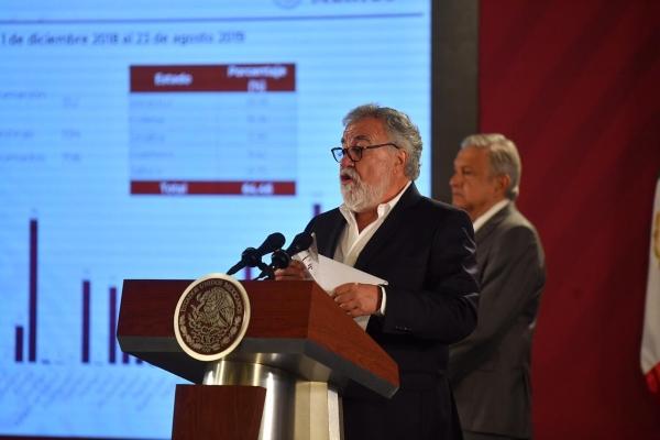 Alejandro Encina durante La Mañanera. Foto: Pablo Salazar Solís