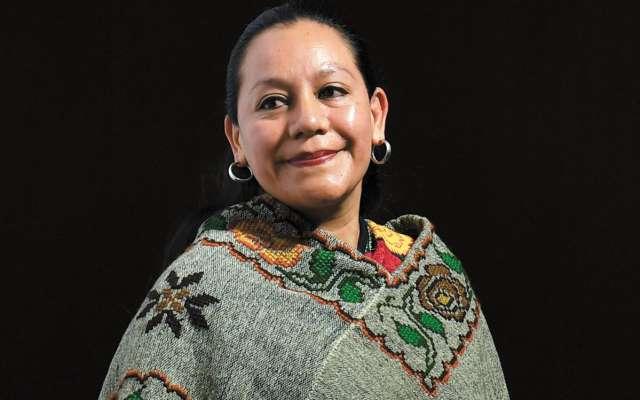 María Luisa Albores González, secretaria de Bienestar Social federal. Foto: Leslie Pérez