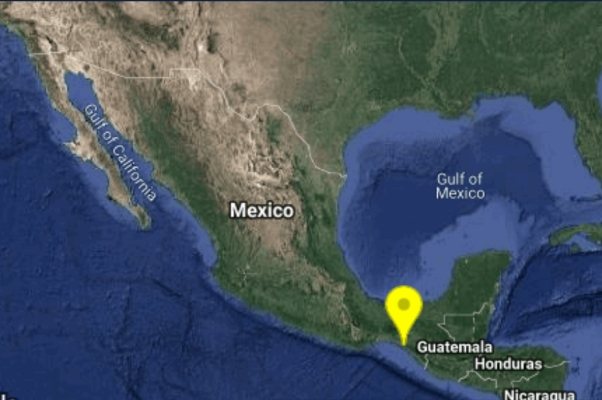 Sismo registrado en Tonalá, Chiapas. Foto: @SismologicoMX