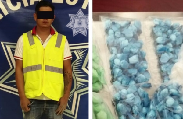 Los elementos pusieron al hombre a disposición del Ministerio Público, junto con la droga y el vehículo en el que se transportaba. FOTO: Especial