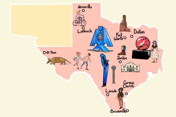 La muestra conmemora también los 300 años de la fundación de la ciudad de Texas. Foto: Especial
