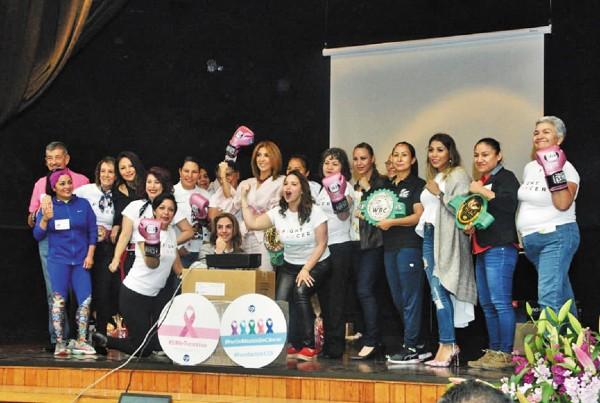 CONVIVENCIA. Las boxeadoras participaron activamente en la Casa de Cultura de Tlalpan. Foto: Alma Montiel