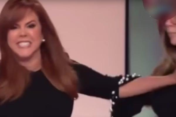 María Celeste Arrarás saca a empujones del set a empleada; reviven VIDEO