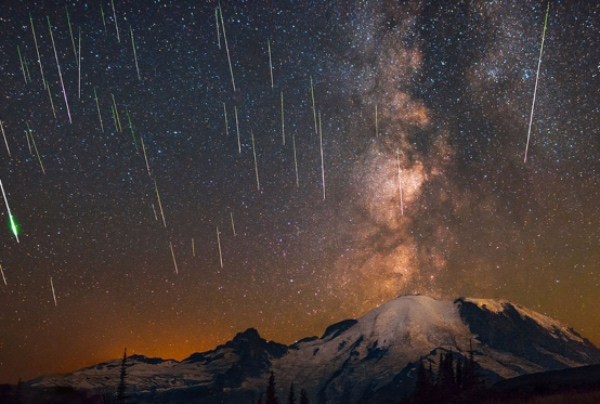 Los días 14 y 15 de diciembre serán los de mayor concentración de meteoros. FOTO: International Meteor Organization