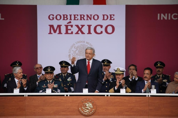 Evento de inauguración del presidente López Obrador. Foto: Presidencia