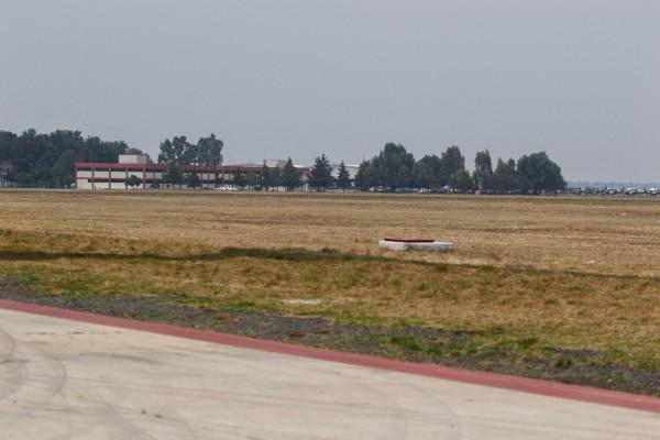 Terrenos en la base militar de Santa Lucía, en dónde a partir del próximo lunes se construirá el nuevo Aeropuerto de la Ciudad de México. FOTO: ISAAC ESQUIVEL /CUARTOSCURO.COM