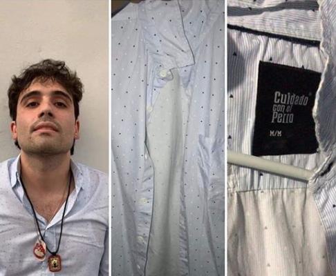 La camisa de Ovidio Guzmán. Foto: captura de redes sociales y Cuartoscuro.