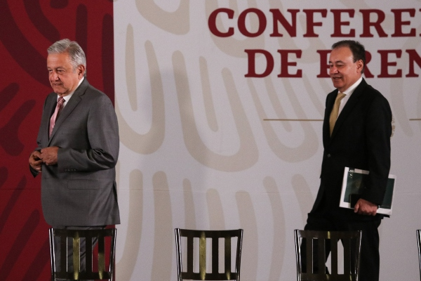 López Obrador y Durazo. Foto: Cuartoscuro