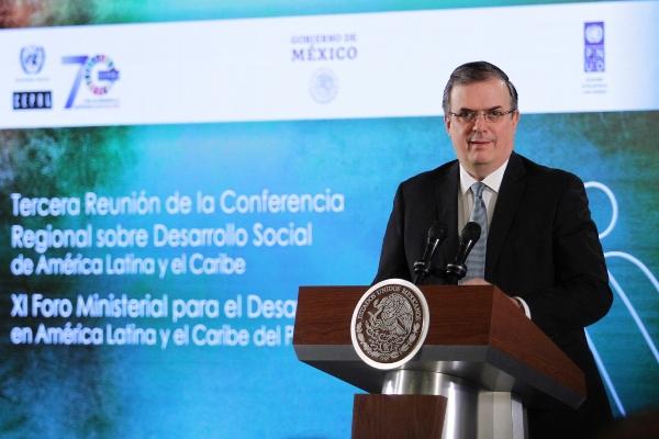 El secretario de Relaciones Exteriores, Marcelo Ebrard. Foto: Notimex