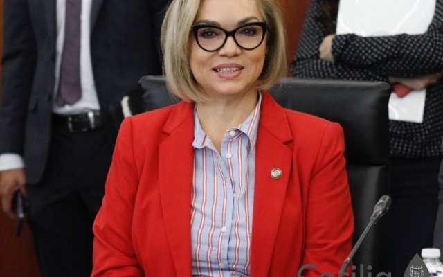 La morenista Cecilia Sánchez se dijo dispuesta a participar para estar a la cabeza del STPRM.  Foto: TWITTER @Cecilia__SG