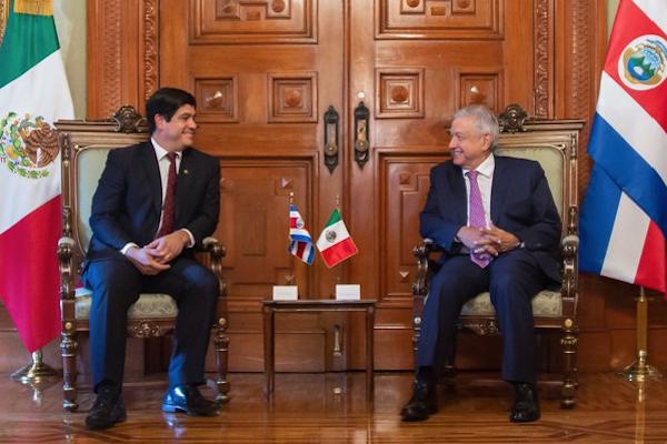 AMLO costa Rica mexico reunion carlos alvarado