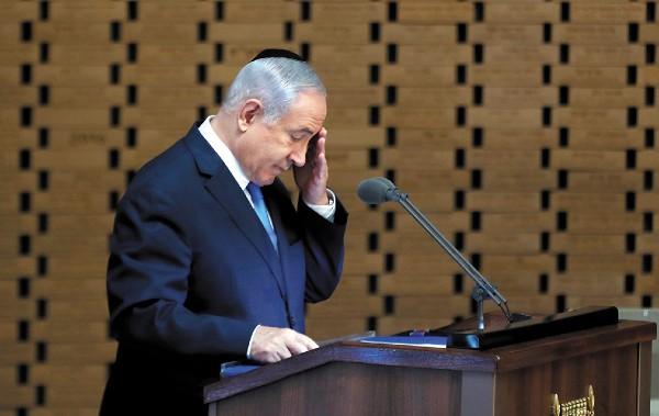 DERROTA. Benjamín Netanyahu en Jerusalén. Foto: REUTERS