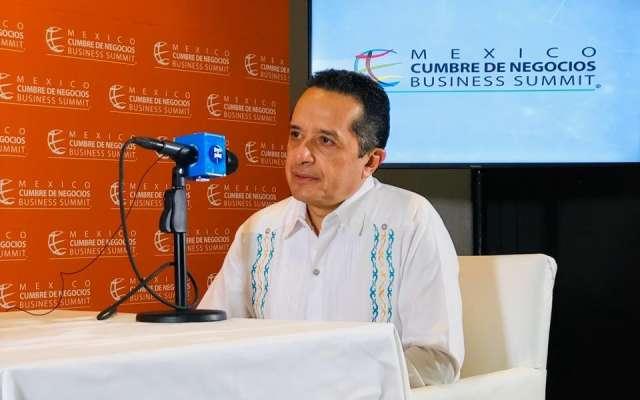 El gobernador dijo que difiere en algunos puntos con AMLO, pero que respeta su gestión. FOTO: El Heraldo de México