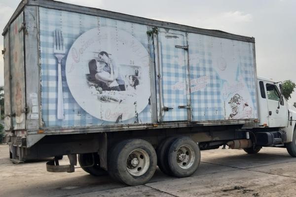 El camión fue encontrado sin personas. Foto: Antonio de la Rosa
