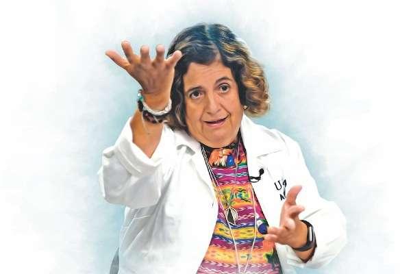 """""""Queremos que en Cuatro Ciénegas exista un instituto de biotecnología liderado por sus jóvenes"""" Valeria Souza, científica mexicana. Ilustración: Miguel Ulloa"""