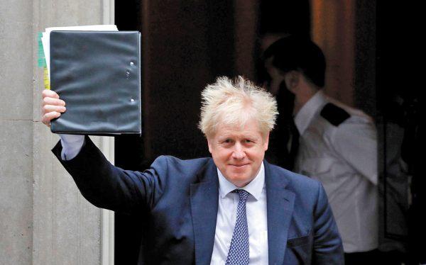BLOQUEO. Johnson no puede llamar a elecciones sin el apoyo de los comunes. Foto: AP.