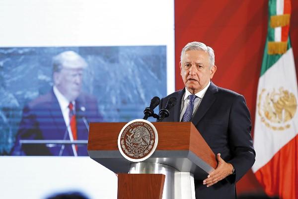 """México-EU, """"Hay cooperación para buscar enfrentar problemas que afectan a las dos naciones."""" Andrés Manuel López Obrador, presidente de México. Foto: EFE"""