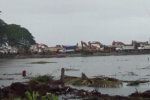 Dos Bocas, un terreno que se ha visto afectado por las lluvias. Especial