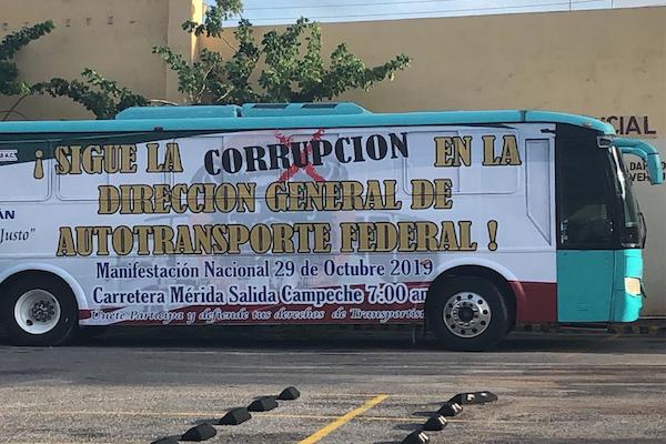 transportistas paro nacional 29 octubre