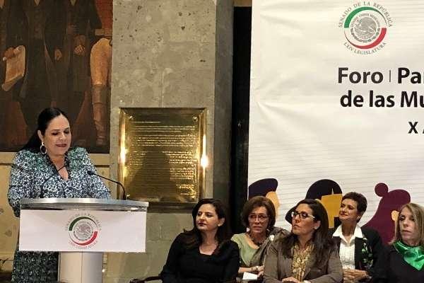 Senadora Mónica Fernández Balboa, Presidenta de la Mesa Directiva del Senado de la República. Foto: Especial