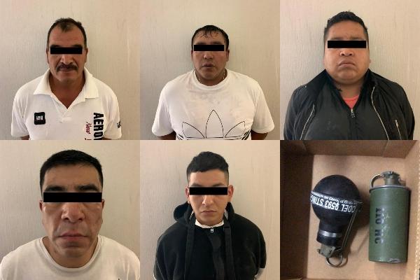Los cinco presuntos delincuentes fueron puestos a disposición del MP. Foto. Especial