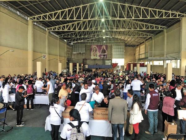 RECIENTE. La asambleas distritales, del Distrito 11, en Ecatepec, la semana pasada. Foto:  Especial