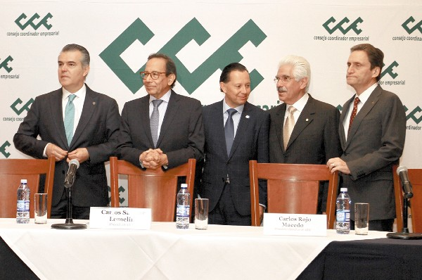 POSTURA. La cúpula empresarial demandó certeza jurídica a las autoridades de Energía. Foto: Notimex