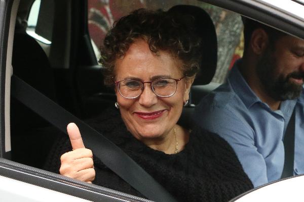 Bertha Luján, presidenta con licencia del Consejo Político Nacional de Morena. FOTO: ROGELIO MORALES /CUARTOSCURO.COM