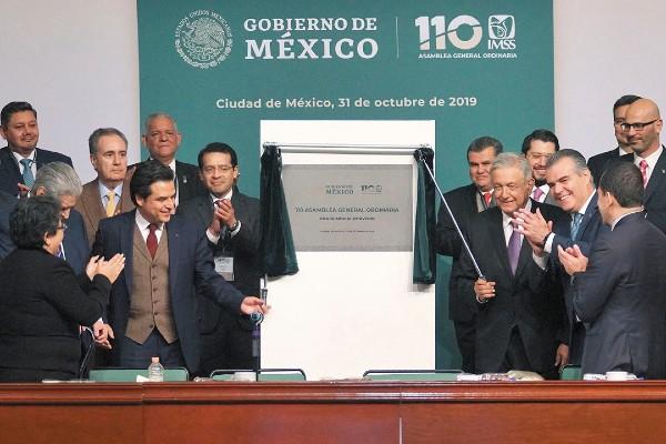 EVENTO. El Presidente de México asistió a la 110 Asamblea General Ordinaria del Instituto. Foto: Especial