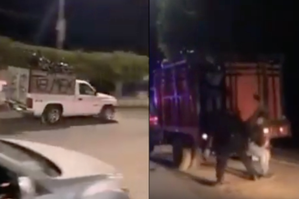 Disfrazados de sicarios, jóvenes hacen parodia de balaceras en Culiacán por detención de Ovidio Guzmán: VIDEO