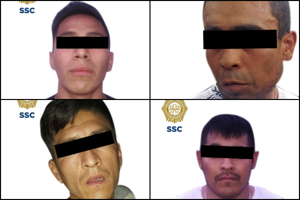Los hombres fueron perseguidos por policías capitalinos; los detuvieron en Periférico. Foto: Especial