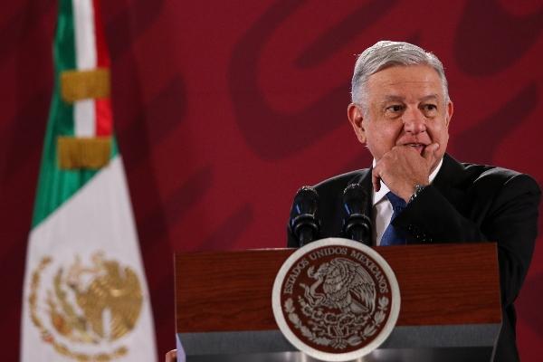 Andrés Manuel López Obrador, presidente de México, durante la conferencia de prensa matutina  FOTO: GALO CAÑAS /CUARTOSCURO.COM