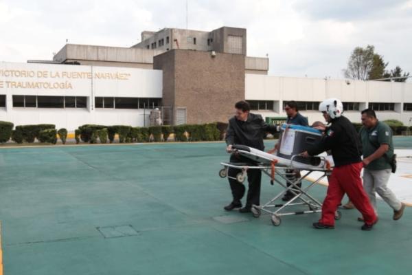 El corazón fue trasladado en helicóptero del Grupo Relámpagos del Estado de México. Foto: IMSS