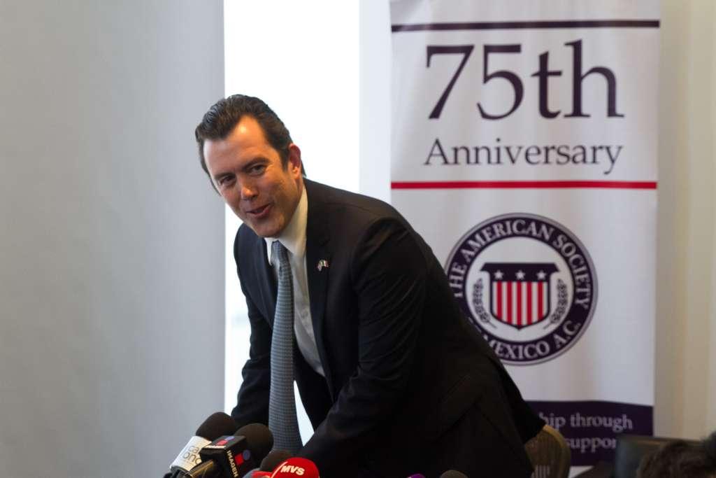 Larry Rubin, presidente de The American Society, ofreció una conferencia de prensa para hablar sobre la relación entre Estados Unidos y México. FOTO: MOISÉS PABLO /CUARTOSCURO.COM